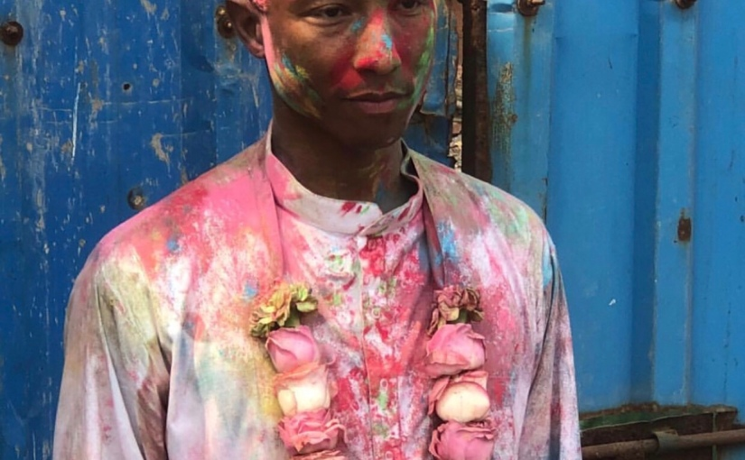 Pharrell William celebrates Holi Festival