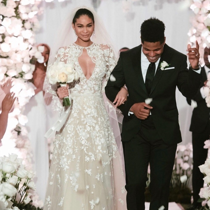 First pics of supermodel Chanel Iman and Sterling Shepard wedding