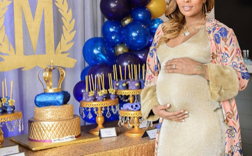 Eva Marcille celebrates baby shower in a royal themedparty